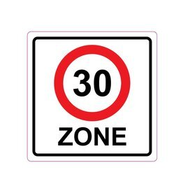 30 km zone Sticker E10(A1-30)