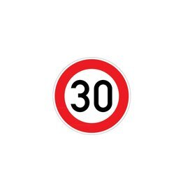 Maximumsnelheid 30 km Sticker