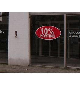 Korting sticker 10% Ovaal