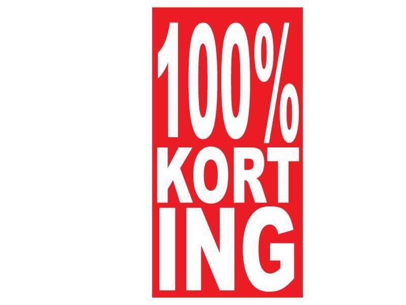 Rechthoekige 100% korting Sticker