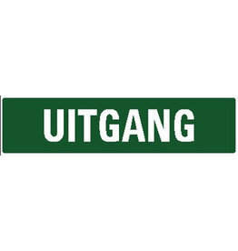Uitgang sticker