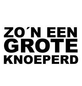 ZO'N GROTE KNOEPERD Sticker