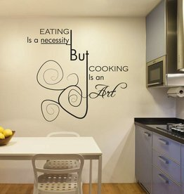 Muursticker keuken text 4