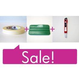 Setprijs: Tape - Spatel - Breekmesje