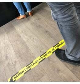 Vloerlijn sticker afstand bewaren 1,5 Meter (Top kwaliteit)