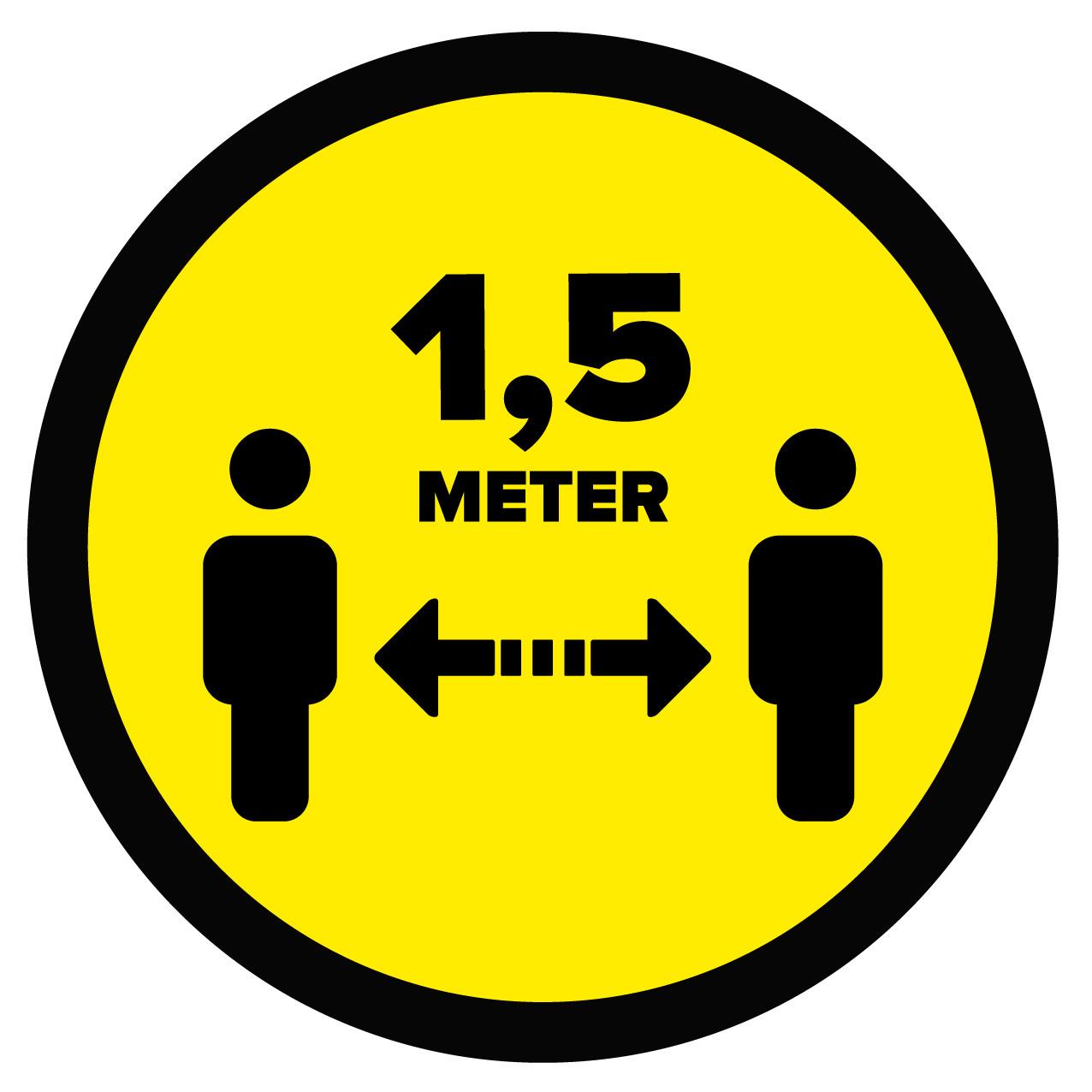 Vloerzeil afstand bewaren 1,5 Meter