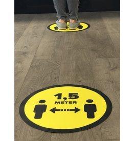 Vloersticker afstand bewaren 1,5 Meter (Vanaf 1 stuk)
