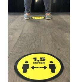 Vloersticker afstand bewaren 1,5 Meter 25 cm rond