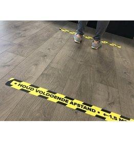 Afstand houden vloersticker Corona 7,5x90cm (top kwaliteit)
