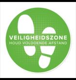 Vloersticker Veiligheidszone (42CM rond) Houd afstand