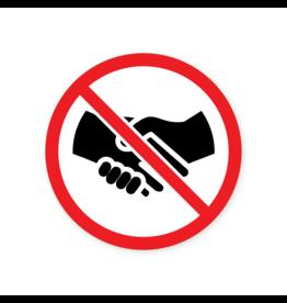 Easydot Wit Sticker verbod handen schudden