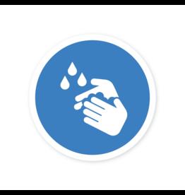 Easydot Wit Sticker handen wassen verplicht