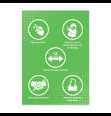 Waarschuwing stickers: Sticker 60 x 85 cm RIVM regels