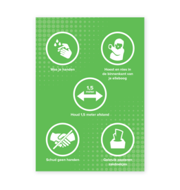 Easydot Wit Stickers: RIVM maatregelen