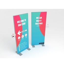 Handdesinfectie display 80 x 200 cm Welcome