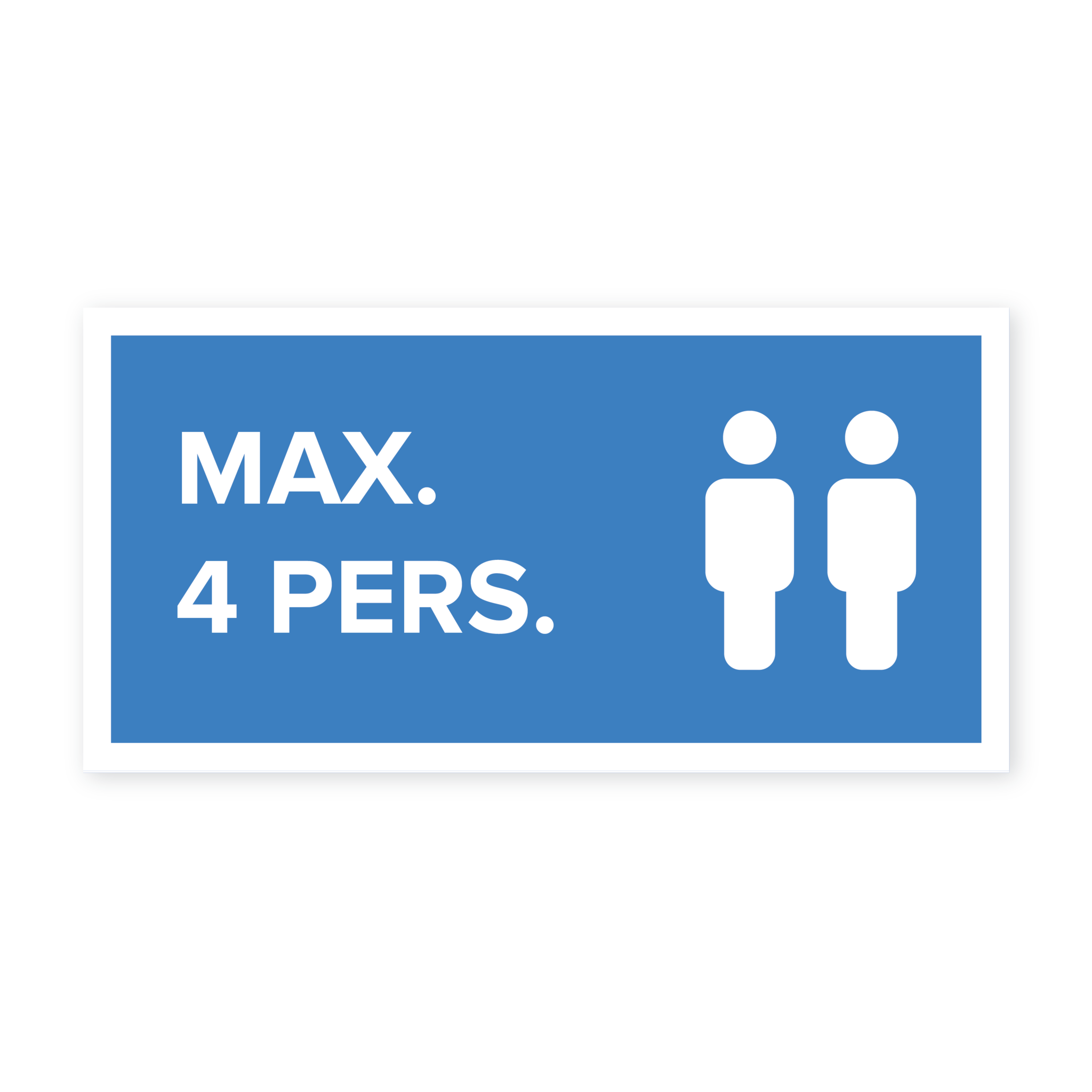 Max 4 pers. sticker