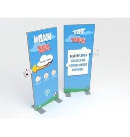 Handdesinfectie display 80 x 200 cm Welcome - Copy
