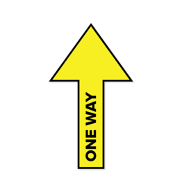 Vloersticker pijl One Way
