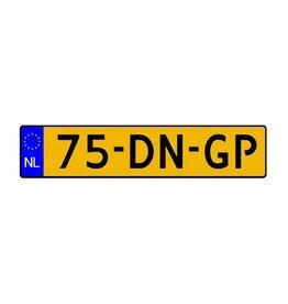 Nederlands kenteken sticker