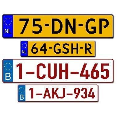 Kenteken stickers