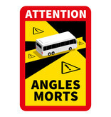 Dode hoek - Attention Angles Morts Bus Sticker (17 x 25 cm)
