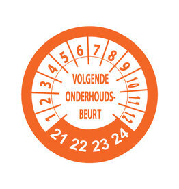 Keuring Stickers Oranje/Wit