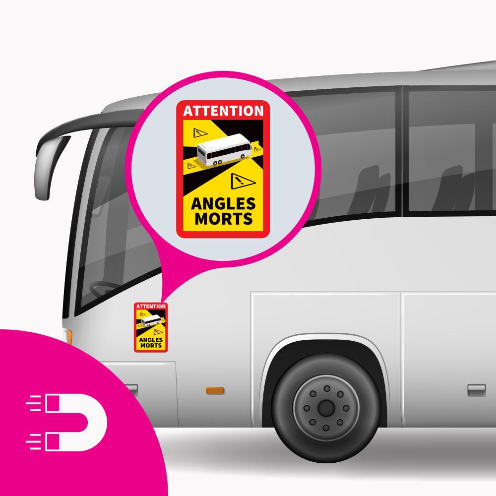Magneetplaat Dode Hoek - Attention Angles Morts Bus (17 x 25 cm) (Prijs = incl. BTW)