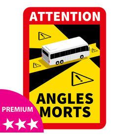 Dode hoek - Attention Angles Morts Bus PREMIUM Sticker (17 x 25 cm) (Prijs = incl. BTW) - Copy - Copy