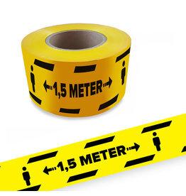 Houd 1,5 mtr afstand afzet lint 250mtr rol